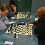 Barry Davis playing chess